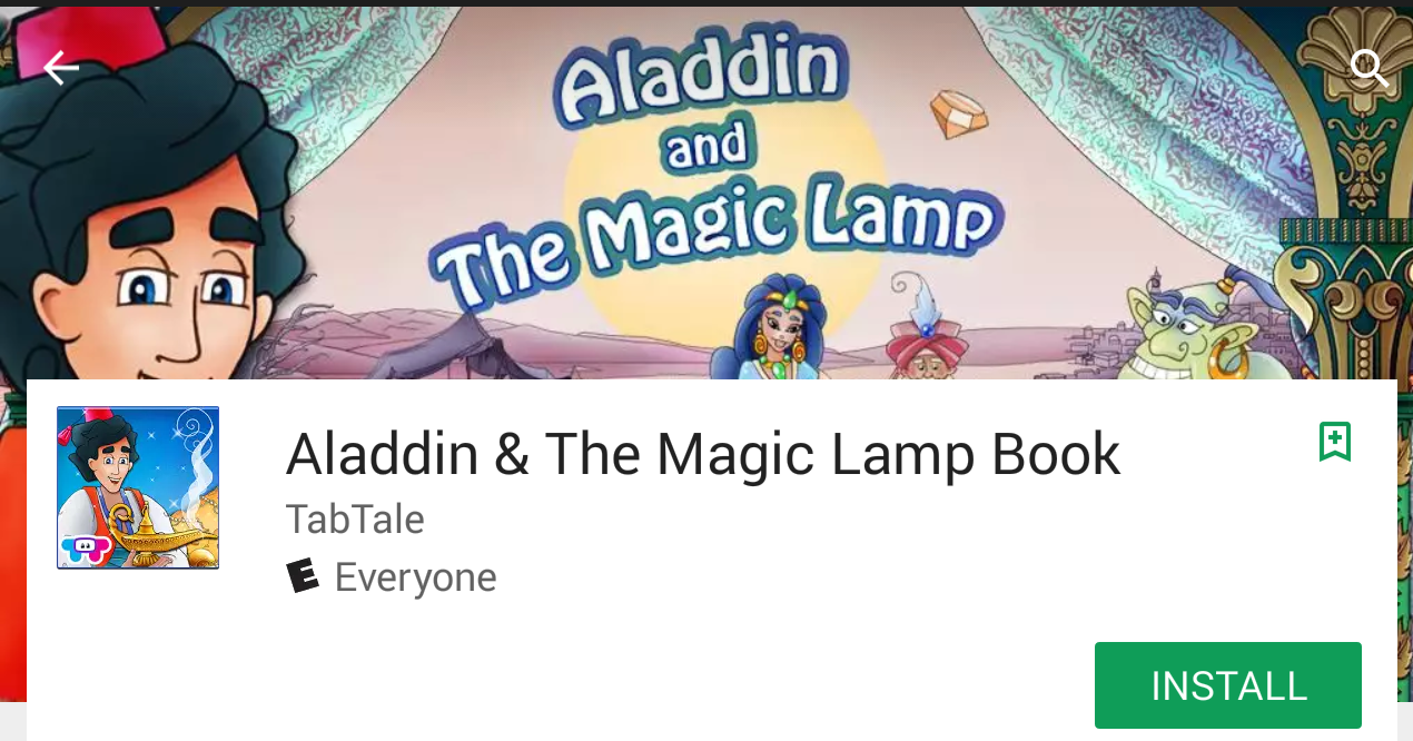 Android Aladdin  for Aladdin And The Magic Lamp Book  535wja