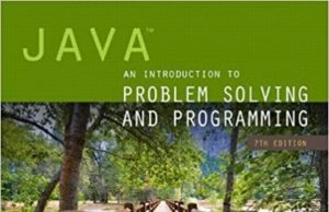 java an introduction to problem solving and programming pdf